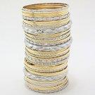 Multi 45 Piece Silver and Gold Bangle Bracelets Set Silver Bangles Gold Bangles