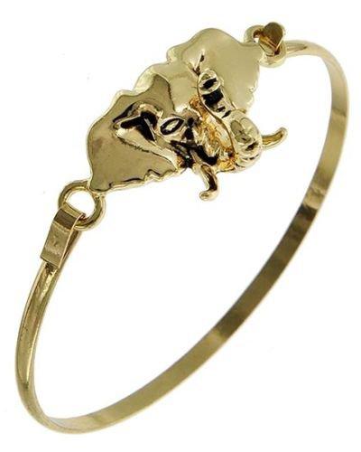 Gold Elephant Head Bracelet Elephant Pendant Bracelets Gold Elephant Bracelet