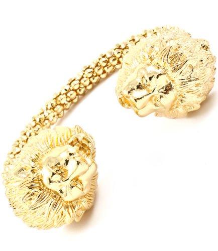 Carved Lion Head Cuff Bracelet Lion Bracelet Gold Lion Cuff Bangle Gold Bracelet