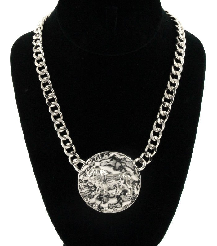 Silver Chain LEO Lion Necklace Lion Necklace Silver Chain Necklace Lion of Judah