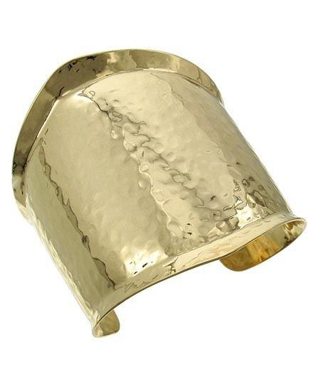 Gold Hammered Cuff Bracelet Wide Gold Bangle Gold Platd Bracelet Wide Bangle