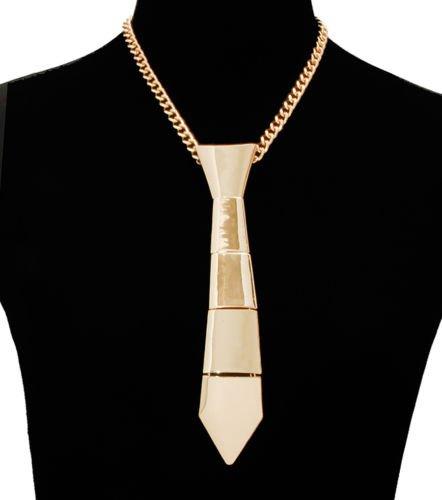 Gold NeckTie Necklace  Gold Chain Necklace Gold Necklace Gold Neck tie Necklace