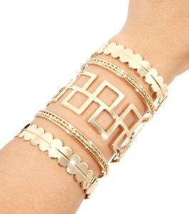 Barb Wide Cutout Cuff Bracelet Gold Plated 3.6 inches Women's Fashion Jewelry