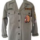 Denim & Supply Ralph Lauren Women Military Beaded Twill Jacket Medium NWT $250