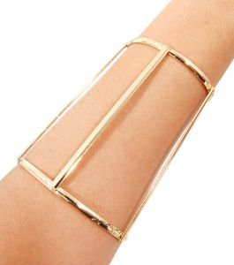 Minimal Line Cutout Wide Cuff Bracelet Gold Plated 4 inches Fashion Jewelry