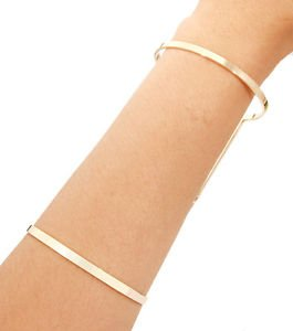 The Minimalist Cutout Wide Cuff Bracelet Gold Plated 4 inches Fashion Jewelry