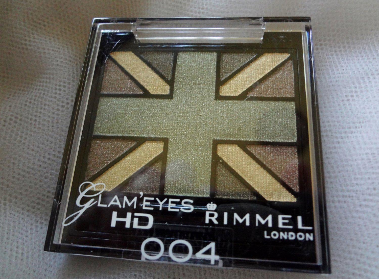 """Rimmel Glam Eyes HD #004 in """" Green Park"""" Quad Eyeshadow"""