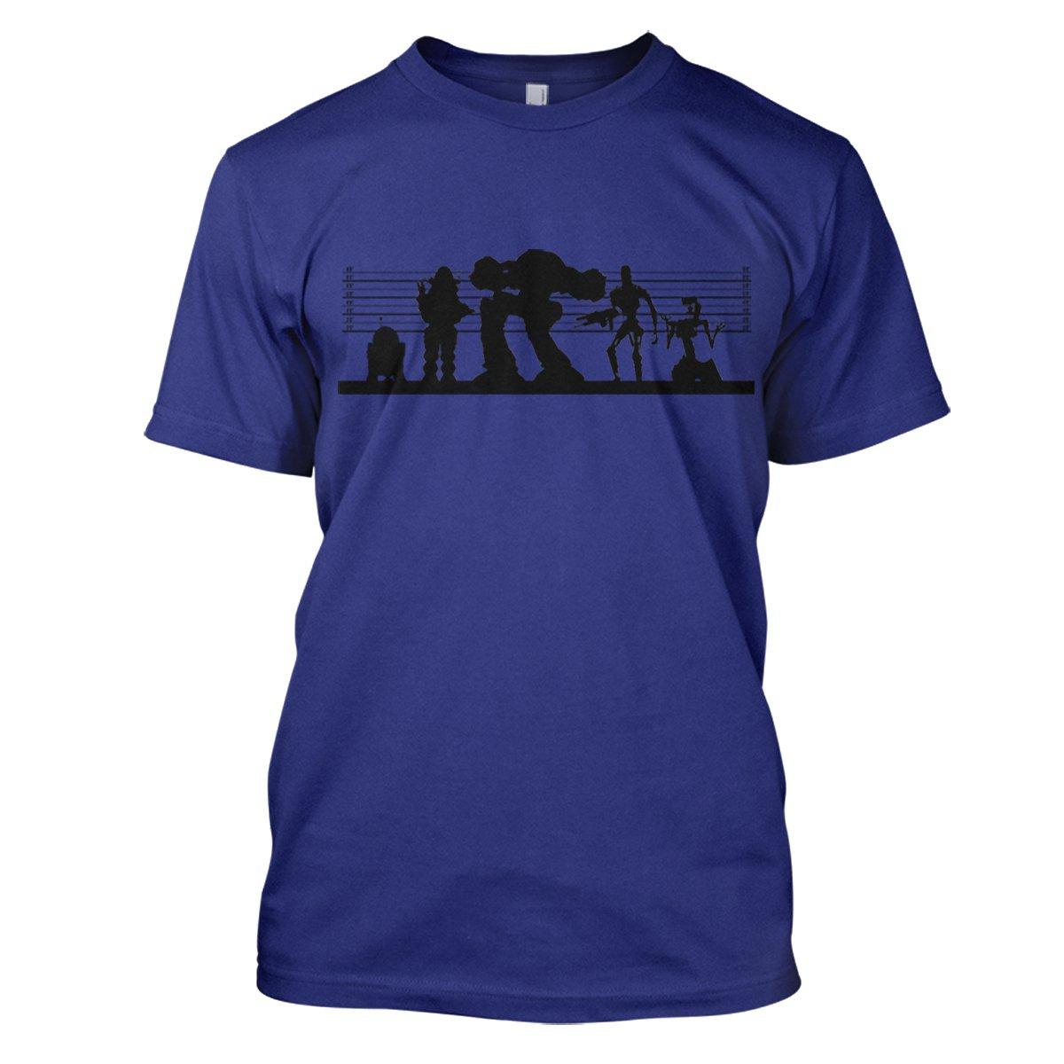 Robot Suspects Mens Movie T-Shirt Large Royal