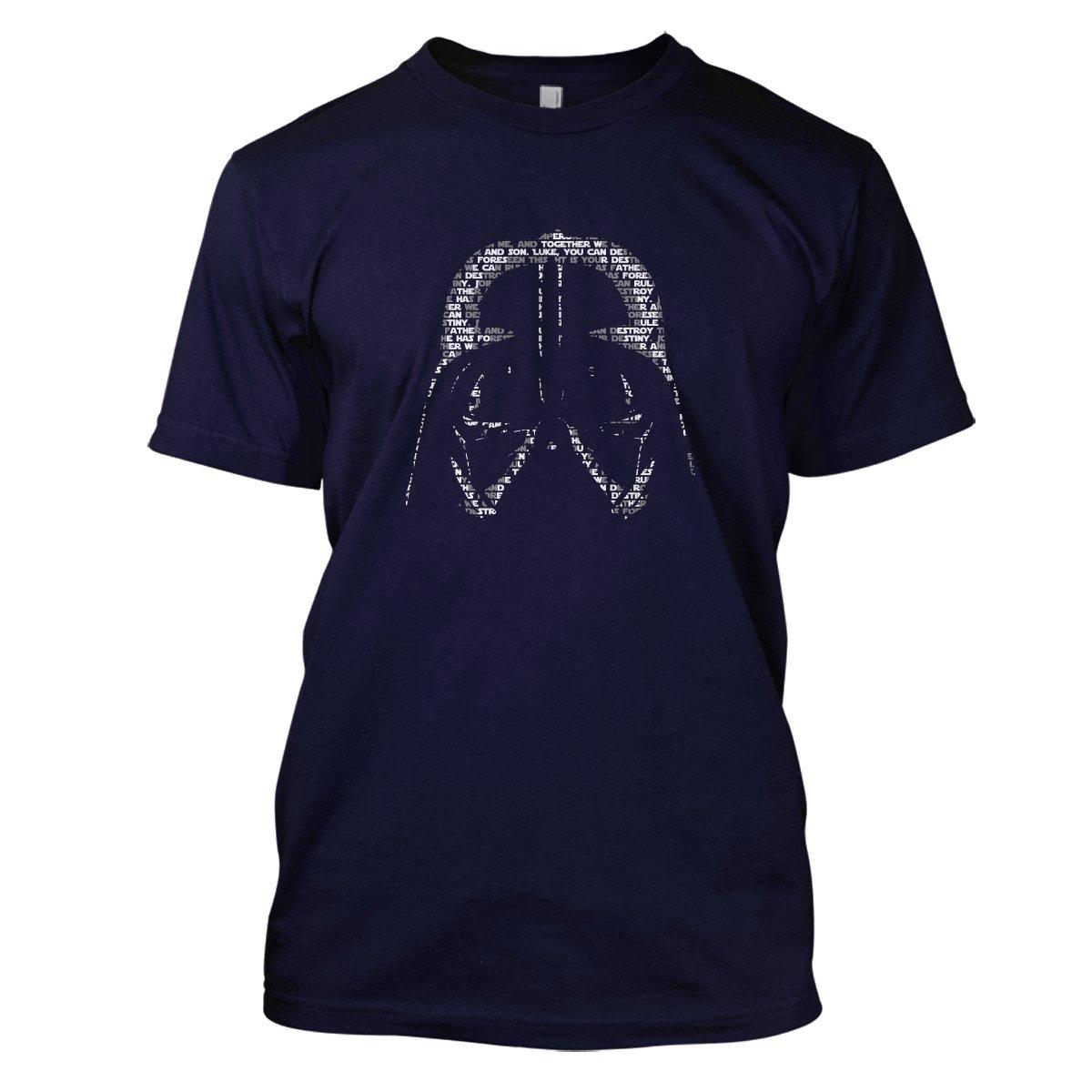 Star Wars: Lord Vader Mens Movie T-Shirt Large Navy