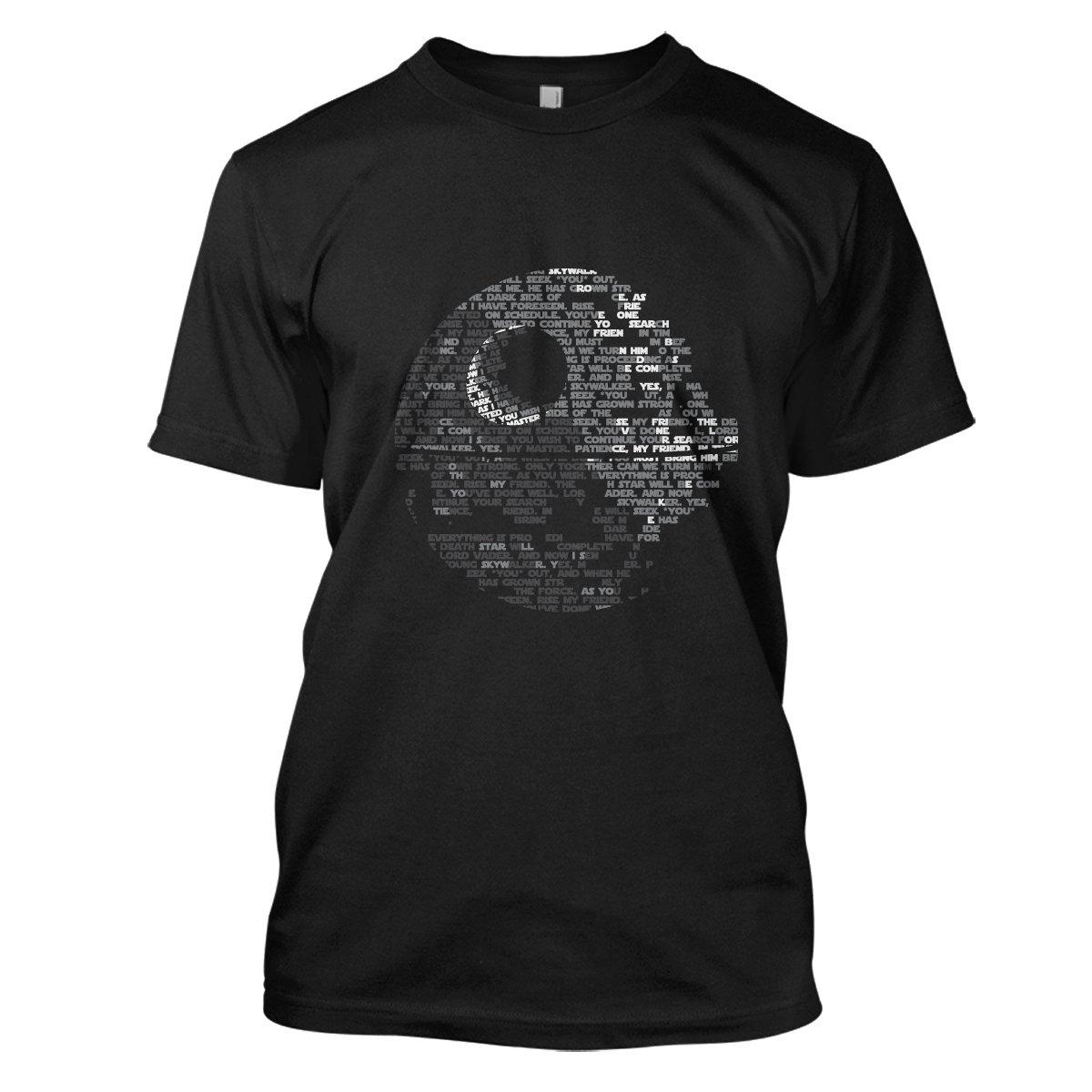 Star Wars: Death Star Mens Movie T-Shirt Large Black