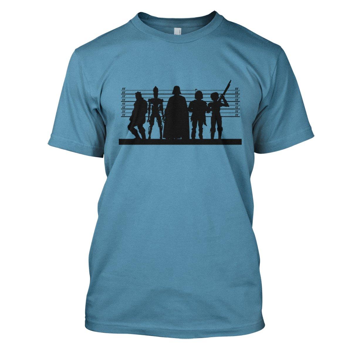 Star Wars: Dark Side Suspects Mens Movie T-Shirt Large Sky