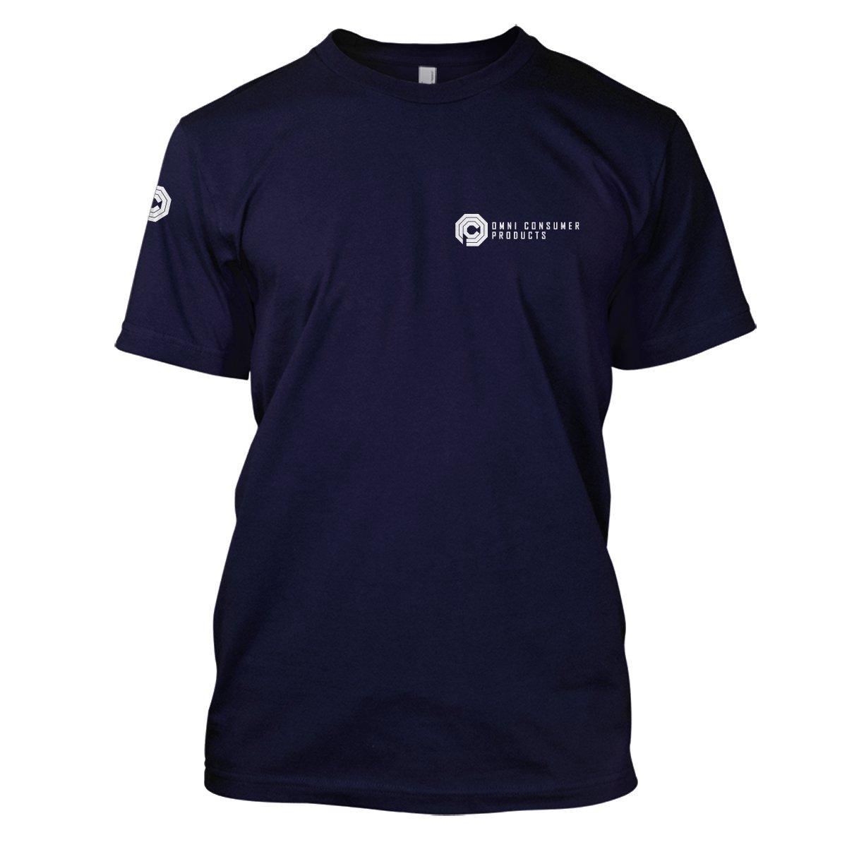 Robocop: Omni Corp Mens Movie T-Shirt Large Navy