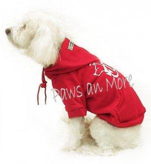 Hooded Dog Sweatshirts_Red