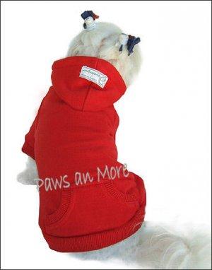 Blank Hooded Dog Sweatshirts_Red