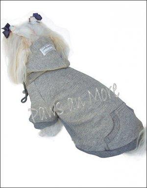 Blank Hooded Dog Sweatshirts_Grey