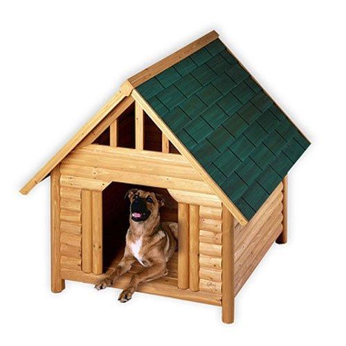 Log Cabin Cedar Dog House - Medium