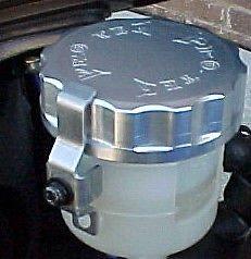 1996-2003 Kawasaki Ninja ZX7R Silver Clutch Fluid Reservoir Cap ZX-7R Pro-tek RC-300S
