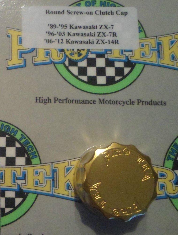 2013-2017 Kawasaki Ninja ZX6R Gold Rear Brake Fluid Reservoir Cap ZX-6R Pro-tek RC-300G