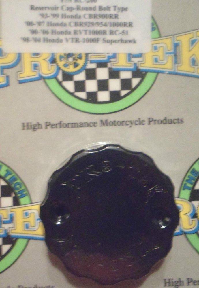 1993-1999 Honda CBR900RR Black Front Brake Fluid Reservoir Cap CBR-900RR Pro-tek RC-200K