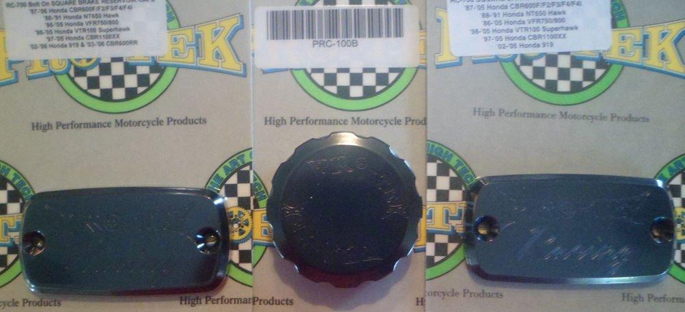 1991-2003 Honda ST1100 Black Brake Fluid & Clutch Fluid Reservoir Caps Pro-tek RC-700K RC-100K