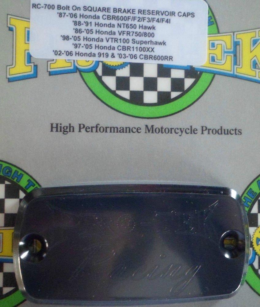 1998-2009 Honda VFR800R Black Front Brake or Clutch Fluid Reservoir Cap VFR-800R Pro-tek RC-700K