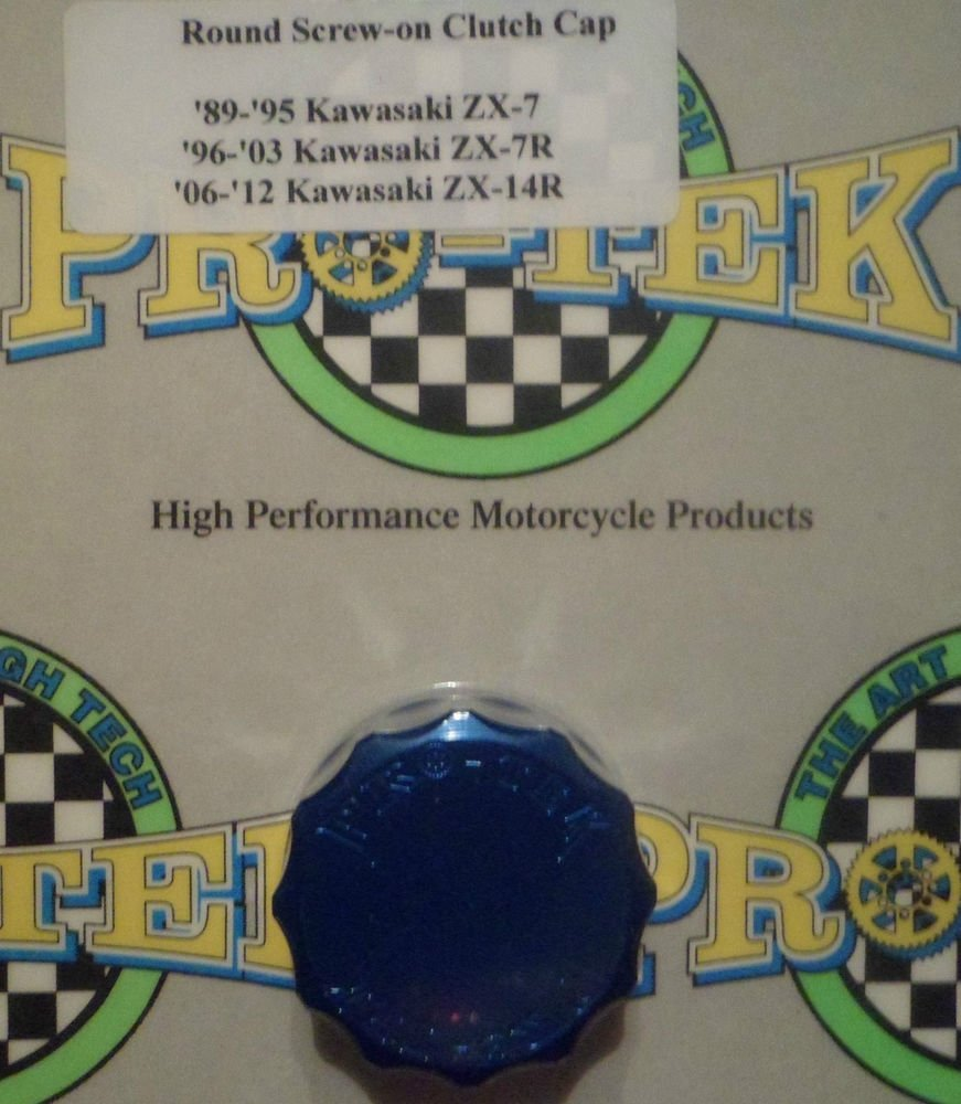 2013-2017 Kawasaki Ninja ZX6R Blue Rear Brake Fluid Reservoir Cap ZX-6R Pro-tek RC-300B