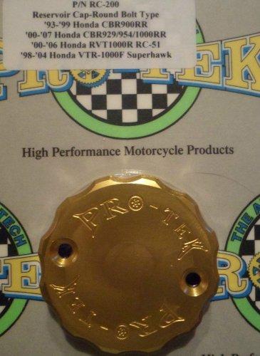 2000-2006 Honda RVT-1000R RC51 Gold Front Brake Fluid Reservoir Cap Pro-tek RC-200G