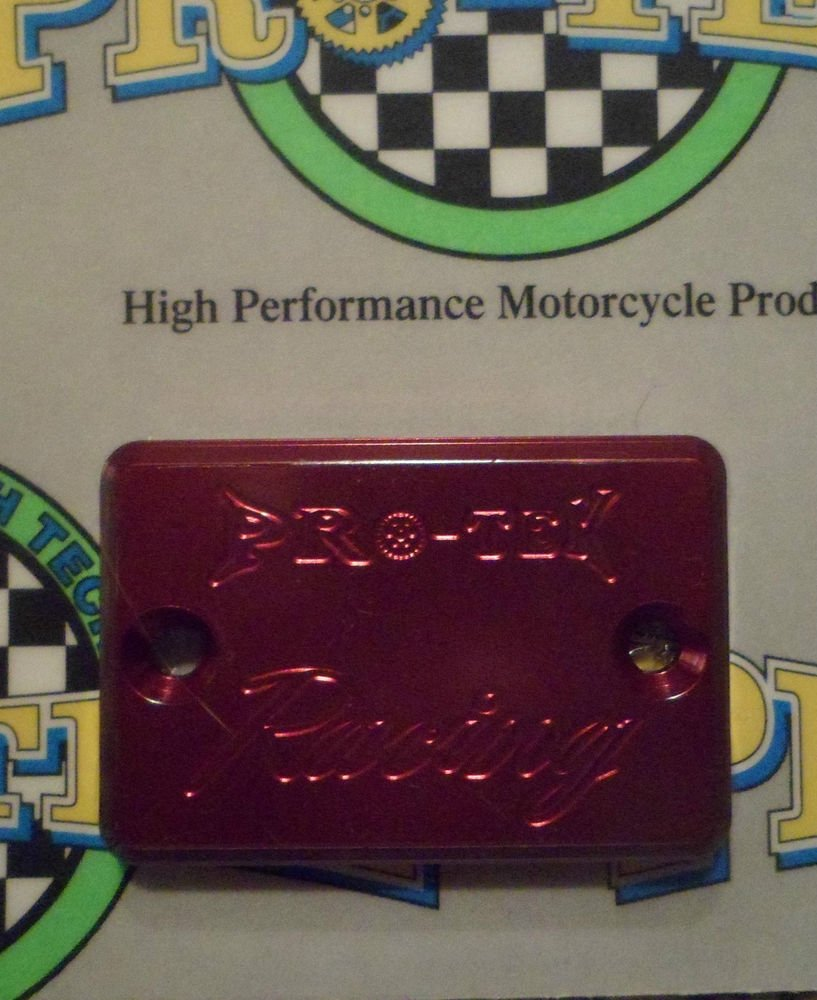 2001-2006 Suzuki GSXR1000 Red Rear Brake Fluid Reservoir Cap GSXR-1000 Pro-tek RC-800R