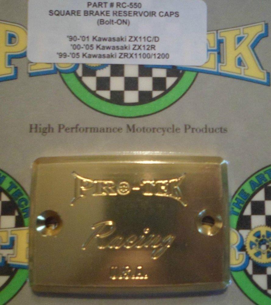 1993-2001 Kawasaki Ninja ZX11 Gold Front Brake or Clutch Fluid Reservoir Cap ZX-11 Pro-tek RC-550G