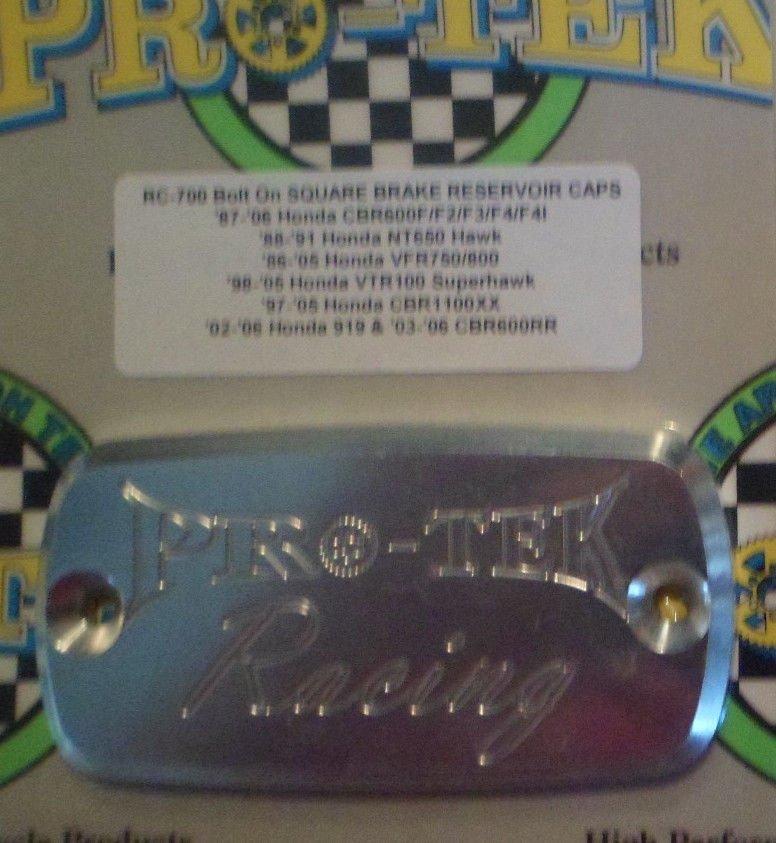 2002-2007 Honda CB900F 919 Silver Front Brake Fluid Reservoir Cap CB-900F 919 Pro-tek RC-700S