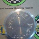 1987-1999 Yamaha FZR400 FZR600 FZR750 Silver Rear Brake Fluid reservoir Cap Pro-tek RC-175S