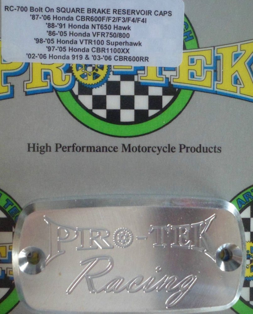 1994-1997 Honda VFR750 Silver Front Brake or Clutch Fluid Reservoir Cap VFR-750F Pro-tek RC-700S