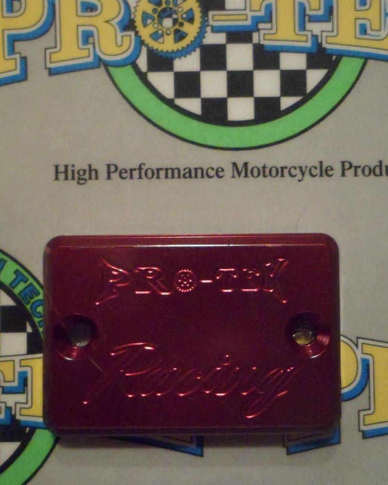1997-2003 Suzuki TL1000 Red Rear Brake Fluid Reservoir Cap TL-1000 Pro-tek RC-800R