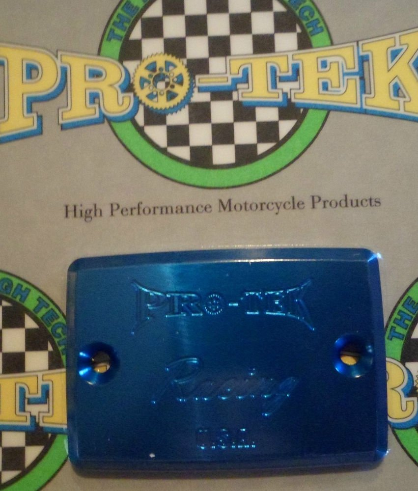 2001-2005 Kawasaki ZRX1200 Blue Front Brake or Clutch Fluid Reservoir Cap Pro-tek RC-550B