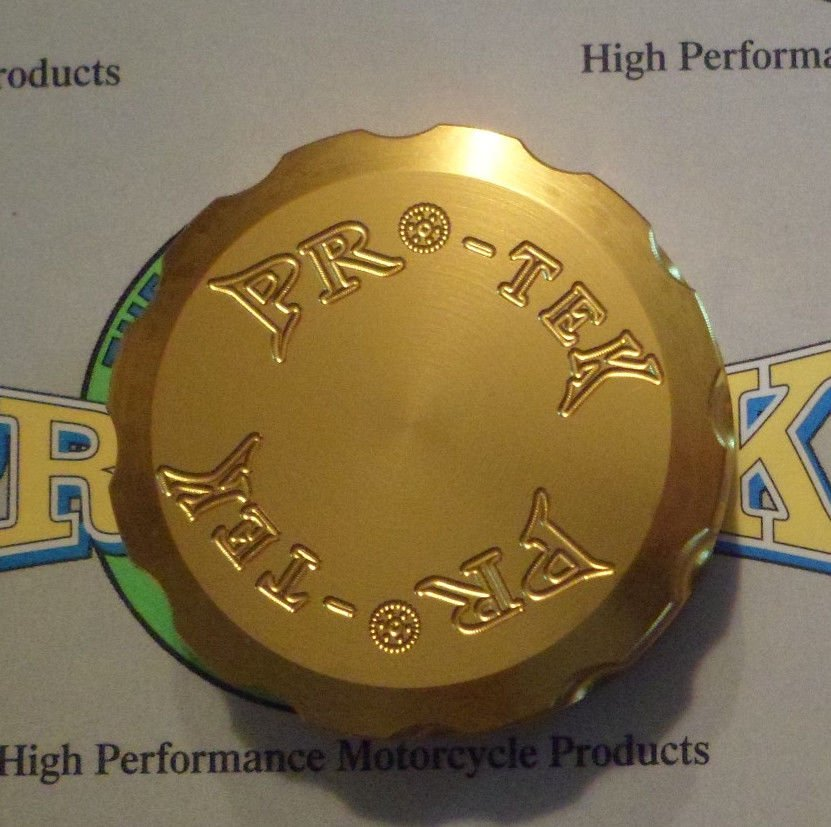 1989-2009 Honda VFR800R Gold Rear Brake Fluid Reservoir Cap VFR-800R Pro-tek RC-100G