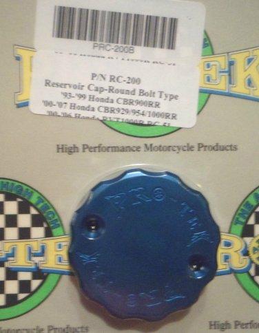 1993-1999 Honda CBR900RR Blue Front Brake Fluid Reservoir Cap CBR-900RR Pro-tek RC-200B