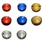 Protek Front & Rear Brake Fluid Reservoir Caps Made For Honda CBR954RR CBR-954RR 2002-2003 RCK-40