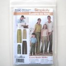 Pajamas Sleepwear Learn To Sew Childs Teens Adults Simplicity Sewing Pattern 2290