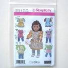 Elaine Heigl American Girl 18 Inch Doll Clothes Dress Shirt Aprons Simplicity Pattern 2761
