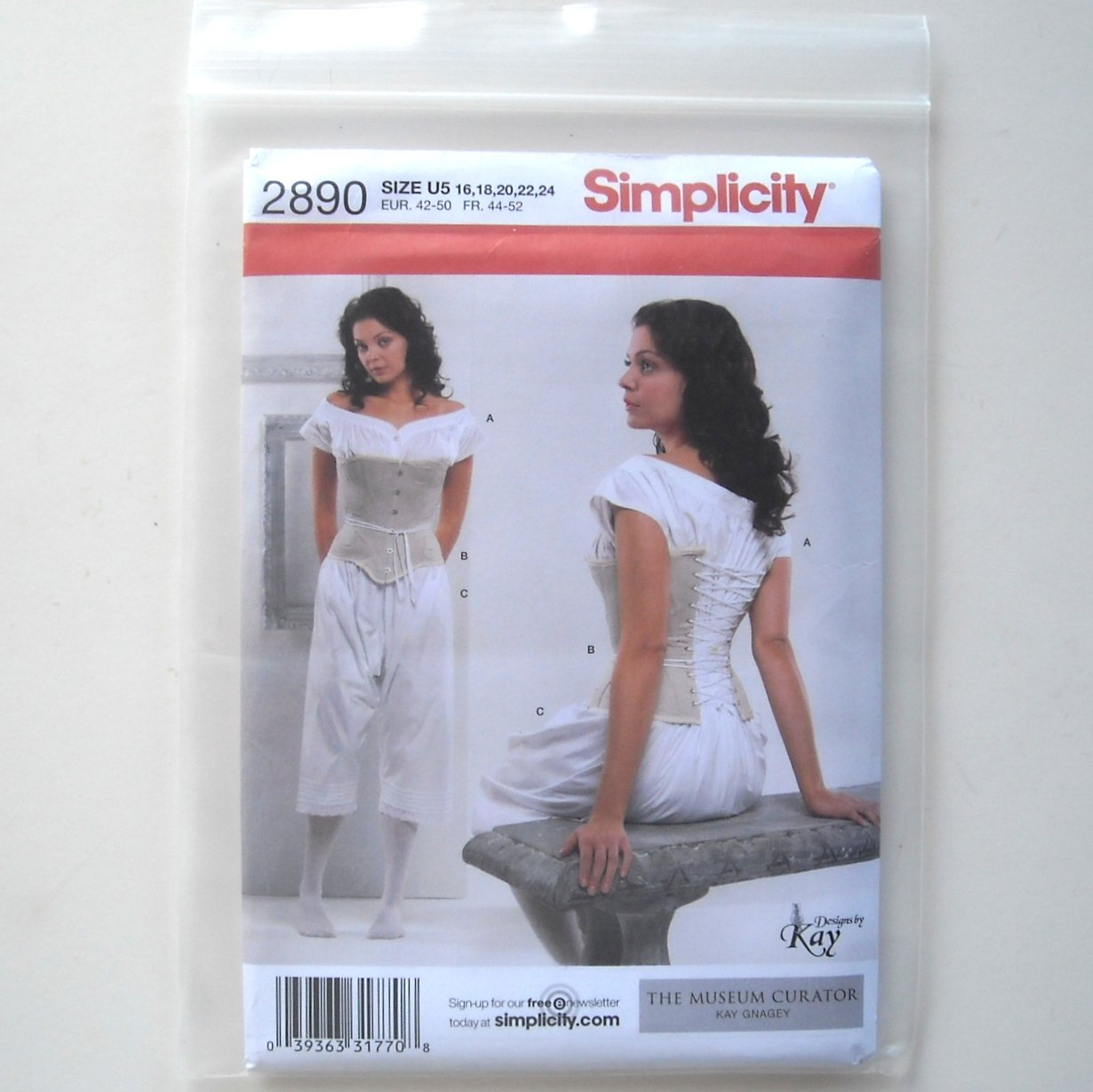 Simplicity Pattern 2890 Size 16 - 24 Misses Drawers Chemise Corset Costume