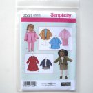 "Simplicity Pattern 3551 One Size Elaine Heigl Designs 18"" Doll Clothes Wardrobe"