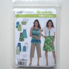 Simplicity Pattern 3799 Size XXS - M In K Designs Easy To Sew Misses Womens Dress Tunic Shorts