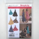 Misses Womens Halter Dresses  14 - 22 In K Designs Simplicity Pattern 3823