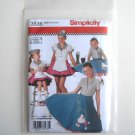 Simplicity Pattern 3836 Size 3 - 6 Andrea Schewe Childs Girls Diner Waitress Halloween Costumes