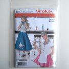 Simplicity Pattern 3847 Size 14 - 22 Andrea Schewe Misses Diner Waitress Halloween Costumes