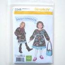Simplicity Pattern 2348 Size 2 - 5 Daisy Kingdom Childs Girls Dress Jacket