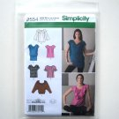 Simplicity Pattern 2554 Size 14 - 22 In K Designs Misses Womens Knit Woven Tops