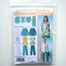 Misses Womens Scrub Pants Top Jacket Size 10 - 18 In K Designs Simplicity Pattern 3542