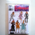 Womens Misses Sheer Fantasy Costumes 14 16 18 20 Easy To Sew Simplicity Pattern 5363