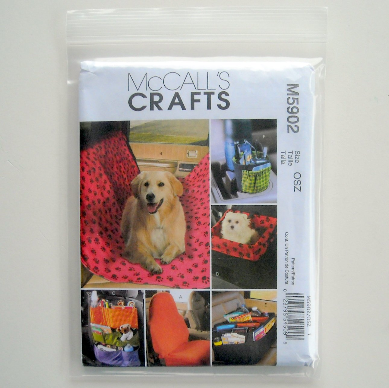 Car Organizers Out of Print Crafts McCall Sewing Pattern M5902